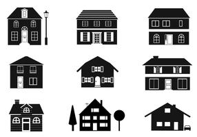 Black and White Houses Vector Pack