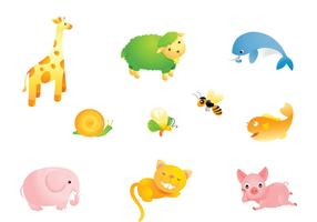 Cute Cartoon Animal Vector Pack
