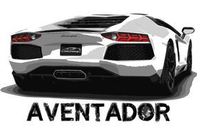 Lamborghini Aventador Car Vector