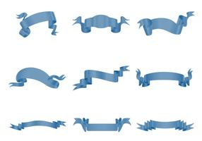Blue Ribbon Banner Vector Pack