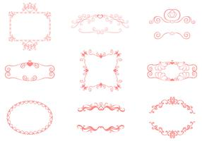 Swirly Hearts Frame Vector Pack