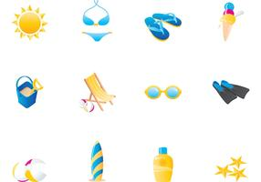 Summer Beach Vector Icons Pack