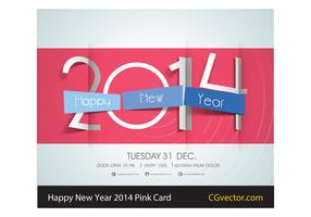 Happy New Year 2014 Vector Card
