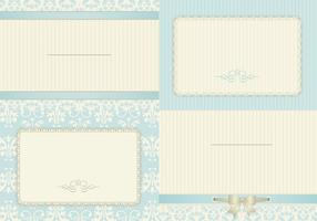 Vintage Robin Egg Blue Card Vectors