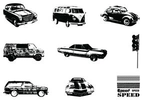 Grungy Vintage Car Vector Pack