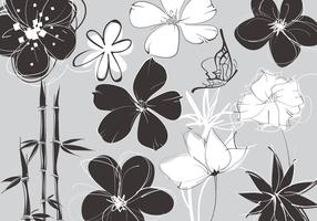 Sketchy Floral Vector Pack