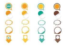 Web Sticker Vector Elements Pack
