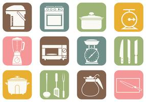 Cooking and Kitchen Vector Icons