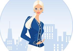 Rubia Mujer De Negocios Vector De Fondo