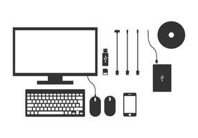 Computer Hardware Device Vectors