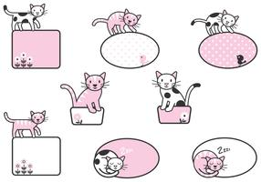 Cute Cat Label Vector Pack!