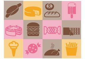 Various Food Vector Icons Pack