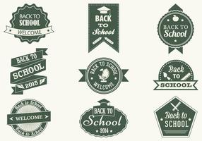 Vintage Back to School Label Vector Pack