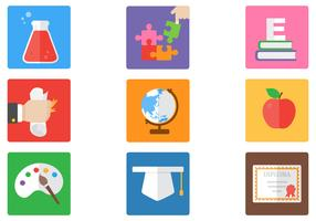 Bright Education Vector Icons