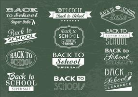 Back to School Chalkboard and Sale Vector Pack
