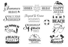 Summer Typography Vector Pack