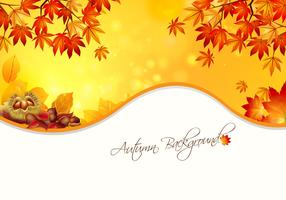 Warm Autumn Background Vector