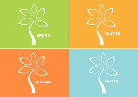 Cutout Seasonal Tree Vector Pack