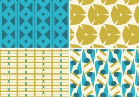 Teal and Gold Funky Pattern Vector Pack