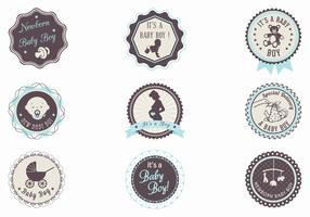 It's a Boy! Baby Label Vector Pack