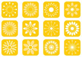 Abstract Sunny Flower Vector Pack