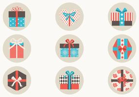Retro Gift Box Vector Pack