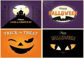 Spooky Halloween Card Vector Pack