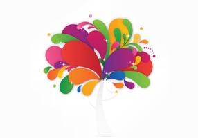 Colorful Abstract Tree Vector Background