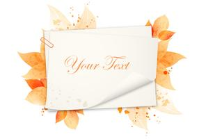 Watercolor Autumn Background Vector Pack