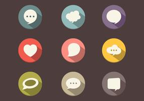 Long Shadow Speech Bubble Vector Pack