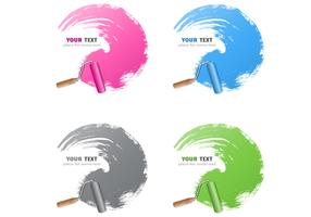 Bright Paint Stroke Vector Background Pack