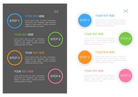 1 2 3 4 Steps Flyer Vector Template