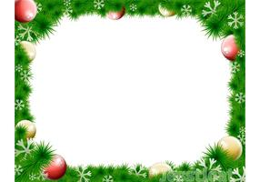 Christmas Wreath Vector Border