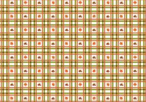 Cute Plaid Fall Vector Pattern