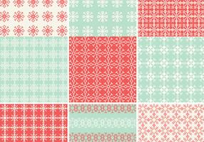 Pixelated Snowflake Vector Pattern Pack