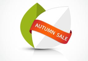 Abstract Autumn Sale Banner Vector