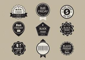 Black Friday Sale Label Vector Pack