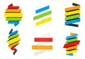 Rainbow Ribbon Banner Vector Pack