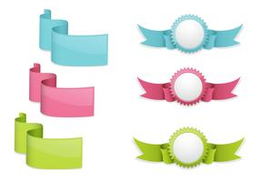 Ribbon Banner and Badge Vector Pack