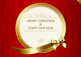 Luxurious Merry Christmas Card Vector