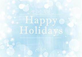 Wintery Happy Holidays Vector Background