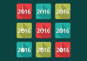 2016 Christmas Vector Icons Pack
