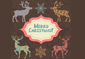 Patterned Christmas Card Vector Pack