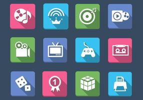 Multimedia and Games Icon Vector Pack