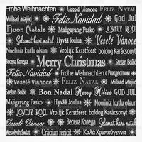 Chalk Drawn Multilingual Holiday Vector Background