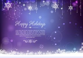 Decorative Purple Holiday Background Vector