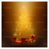 Glowing Christmas Tree Vector Background