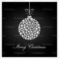 Diamond Studded Christmas Vector Background