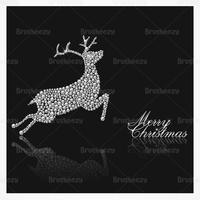 Diamond Studded Reindeer Christmas Vector Background