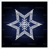 Diamond Studded Star Vector Background